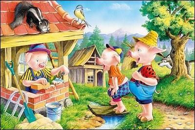 En quoi était construite la maison la plus fragile des «Trois Petits Cochons» ?