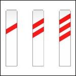Si sur la route une balise vous indique une intersection et est peinte de deux traits horizontaux, dans combien de mètres rencontrerez-vous cette intersection ?