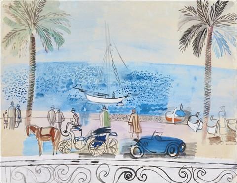"""Son tableau s'intitule """"Cannes, la Croisette"""" :"""