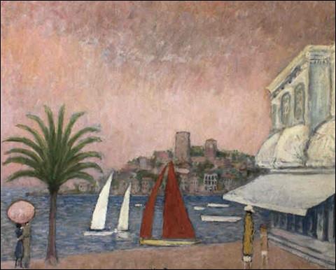 """Qui est l'auteur de la peinture """"Le Suquet vu du Palm Beach"""" ?"""