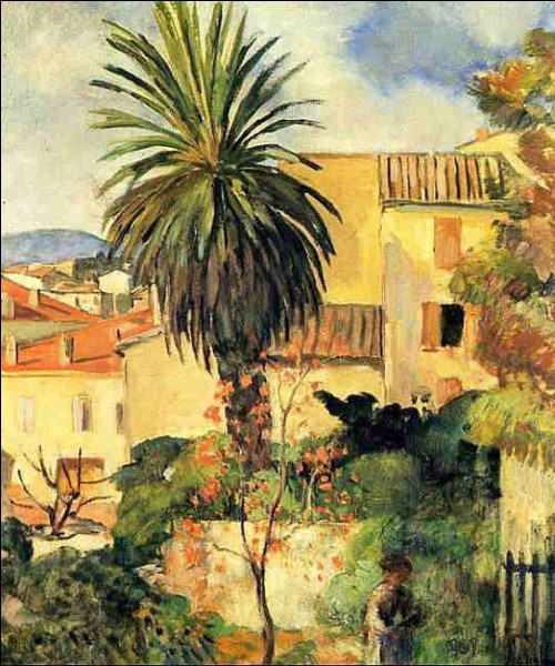 """Qui est l'auteur de ce """"Paysage de Saint-Tropez"""" ?"""