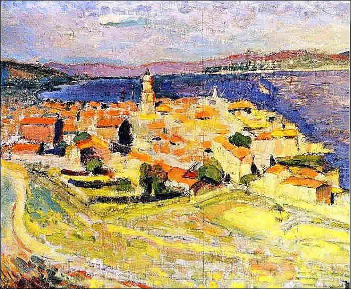 """À qui doit cette toile intitulée """"Vue sur Saint-Tropez"""" ?"""