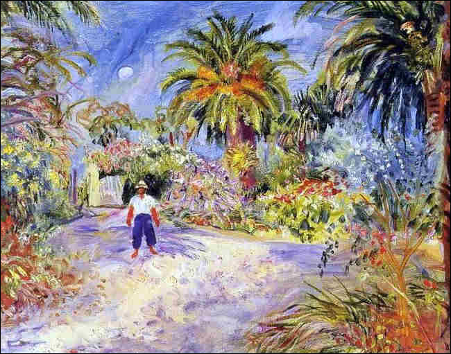 """Qui a représenté le """"Jardin de la villa de Georges Grammont à Saint-Tropez"""" ?"""