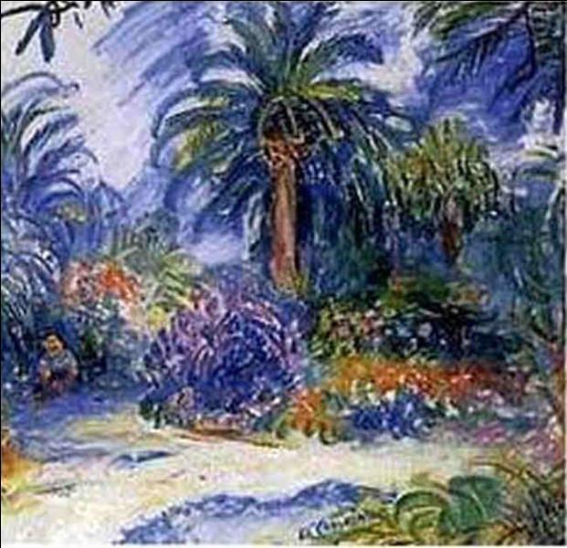 """Qui a peint """"Jardin à Saint-Tropez ?"""