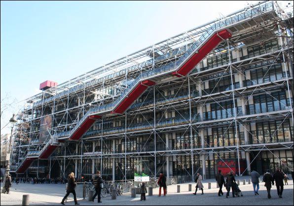 Toujours à Paris arrive en sixième position le centre Pompidou ! Mais quel est son nom entier ?