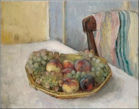 """Qui a peint """"Corbeille de raisins et pêches"""" ?"""