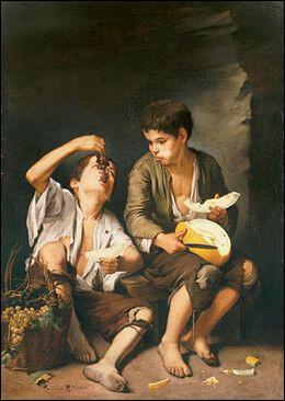 """Qui a peint """" Le mangeur de melon et de raisins"""" ?"""