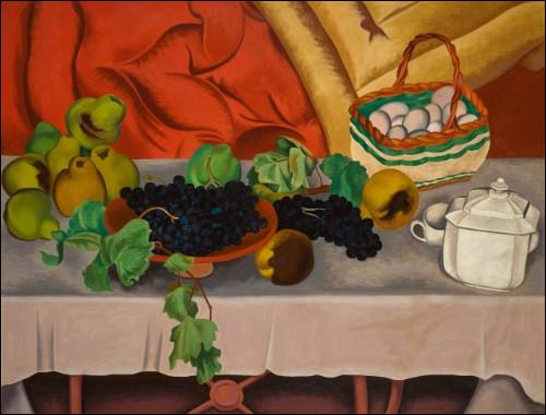 """Qui a peint """"Nature morte aux raisins"""" ?"""