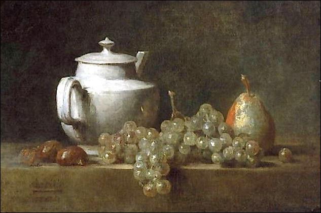 """Qui a peint """"Nature morte avec théière, raisins, noix et poire"""" ?"""