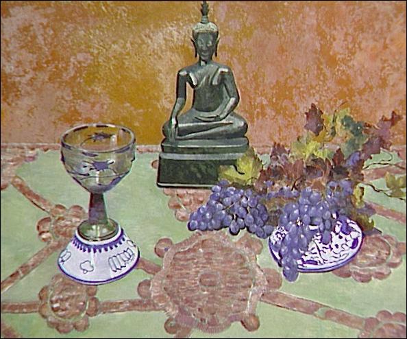 """Qui a peint """"Nature morte au Bouddha et raisins"""" ?"""