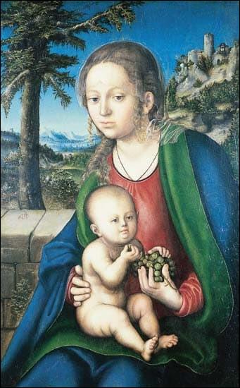 """Qui a peint """"La Vierge aux raisins"""" ?"""