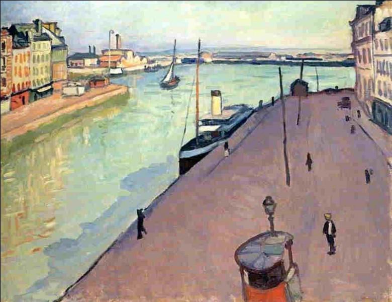 """Qui a réalisé la toile représentant """"Le Quai Notre-Dame au Havre"""" ?"""