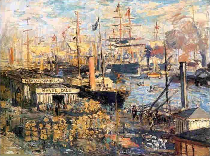 """Qui a réalisé la peinture du """"Grand Quai au Havre"""" ?"""