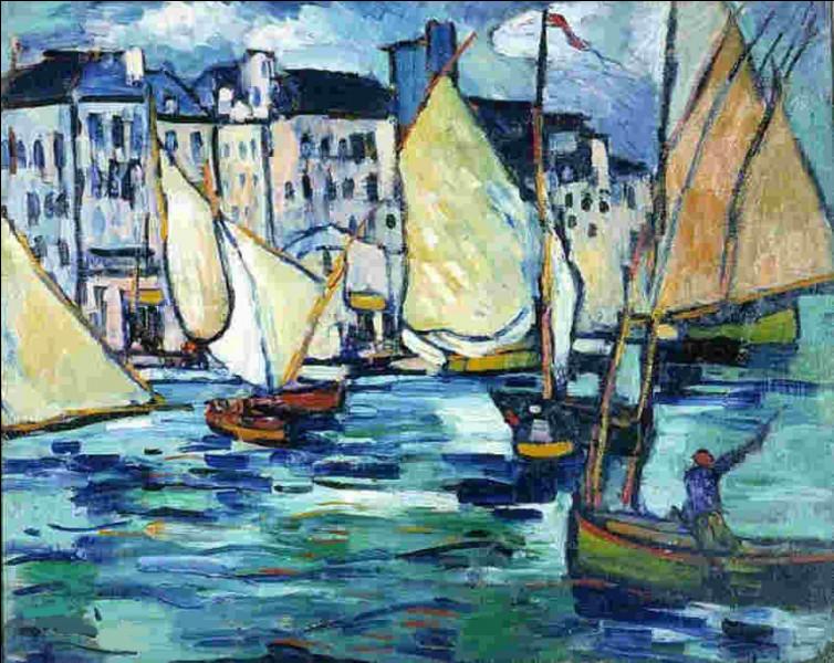 """Et voici encore une peinture du """"Grand Quai du Havre"""", par l'artiste :"""
