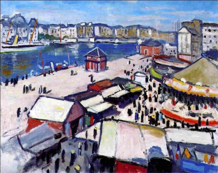 "Qui a peint ""Fête foraine au Havre"" ?"