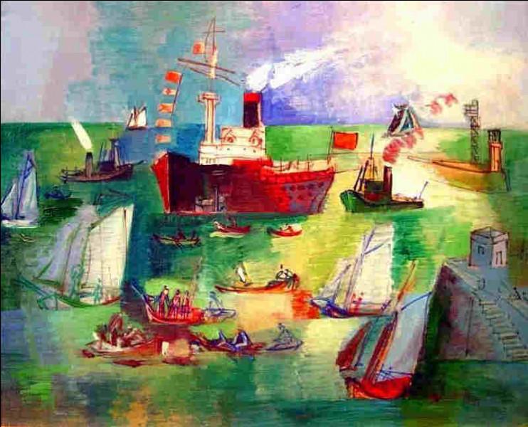 """Qui a peint """"Le bateau rouge dans le bassin de la Manche"""" ?"""