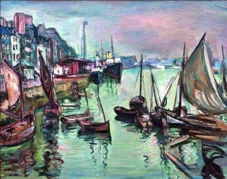 """Quel artiste a signé le tableau """"Le Grand Quai, le Havre"""" ?"""