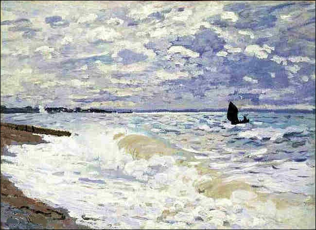 """Sa toile s'intitule """"Le Havre, la mer"""" :"""