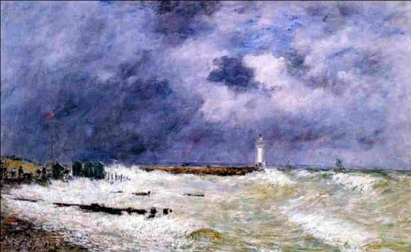 """Qui a peint """"Le Havre par vent fort et fracas"""" ?"""
