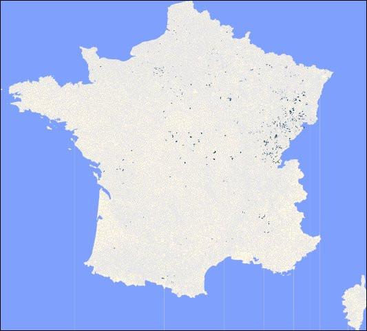 Culture géniale > Avez-vous une idée de ce que représentent les 650 points noirs sur cette carte ?