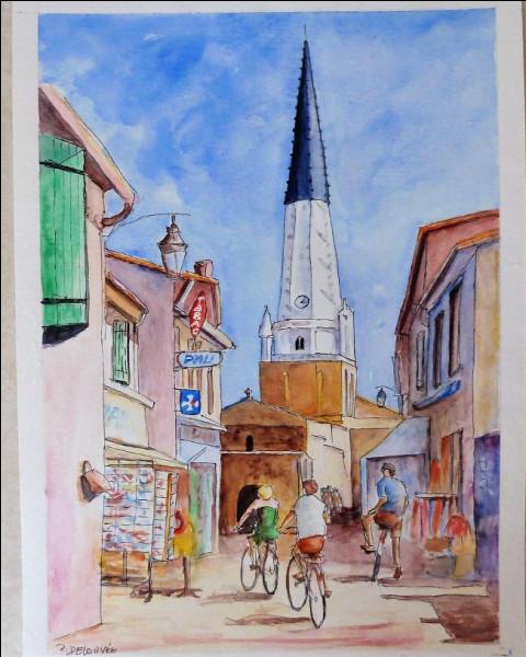 Une image d'Ars, avec vue sur l'église : mais pourquoi le haut de ce clocher est-il tout noir ?