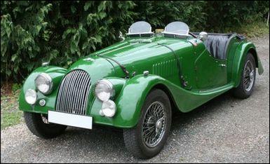 À quel acteur appartient cette Morgan coupé 2/2 vert olive de 1963 ?