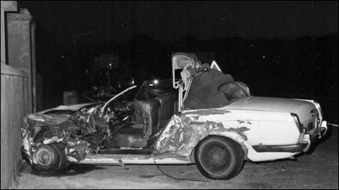 Célébrité des années 60 et 70, il adorait sa Rolls blanche. Ironie du sort, il se tua contre le mur d'un cimetière. De qui s'agit-il ?