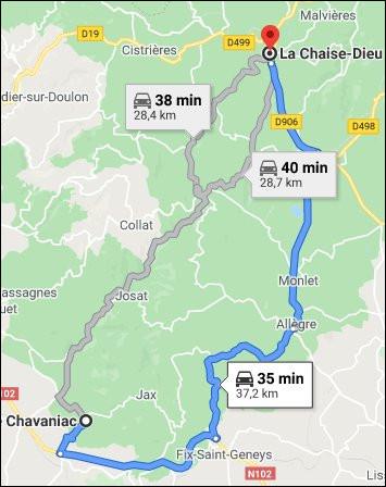 Mais encore une fois : quel rapport avec l'abbaye de la Chaise-Dieu, à plus de 30 km d'ici ?