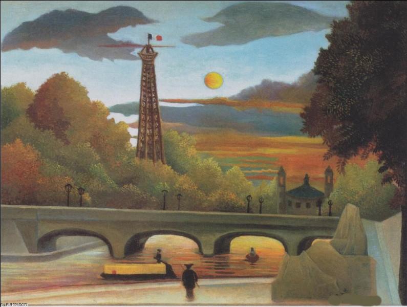 """Qui a fait la peinture de """"La Seine et la tour Eiffel, au coucher du soleil"""" ?"""
