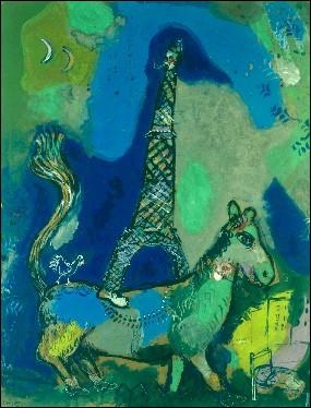 À qui doit-on cette aquarelle de la tour Eiffel ?