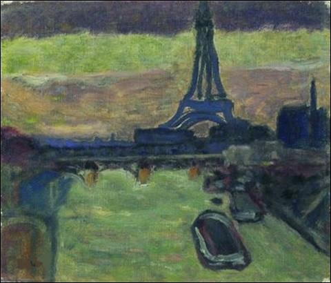 """Qui a représenté """"La Tour Eiffel et la Seine"""" ?"""