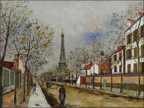 Qui a représenté l'avenue de Versailles et la tour Eiffel ?