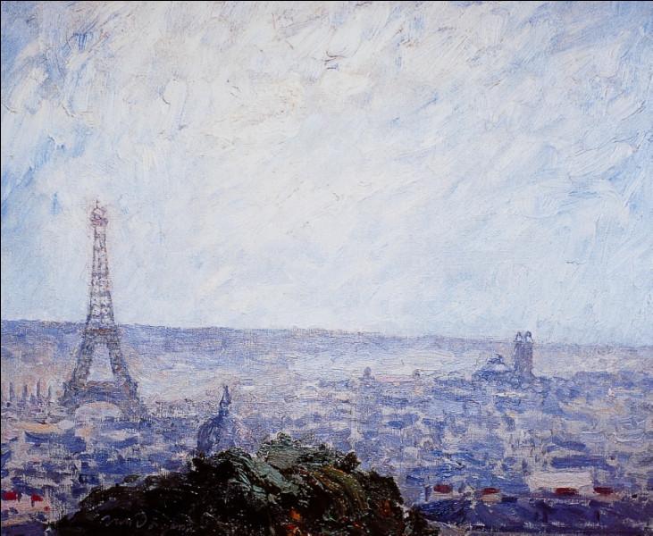 Qui a représentée ici, la tour Eiffel ?