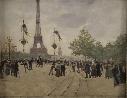 Quel peintre des scènes parisiennes de la Belle Époque a représenté ici notre monument national ?