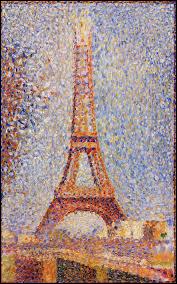 À quel artiste appartient cette toile pointilliste représentant la tour Eiffel, et conservée au musée des beaux-arts de San Francisco ?