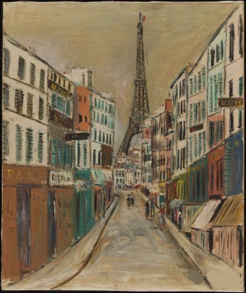"""Qui a réalisé le tableau """"Rue Saint Dominique et la tour Eiffel"""" ?"""