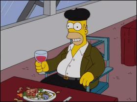 On peut voir Homer boire un bon :