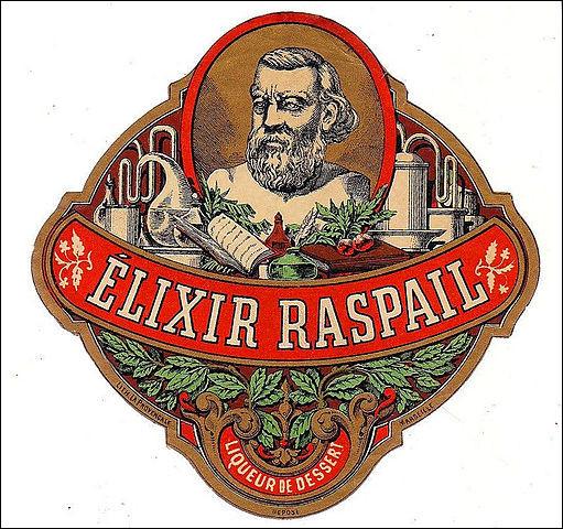 L'Élixir Raspail, du nom d'un chimiste et homme politique, comportait dans sa formule d'origine (en 1845) un ingrédient peu banal : lequel ?