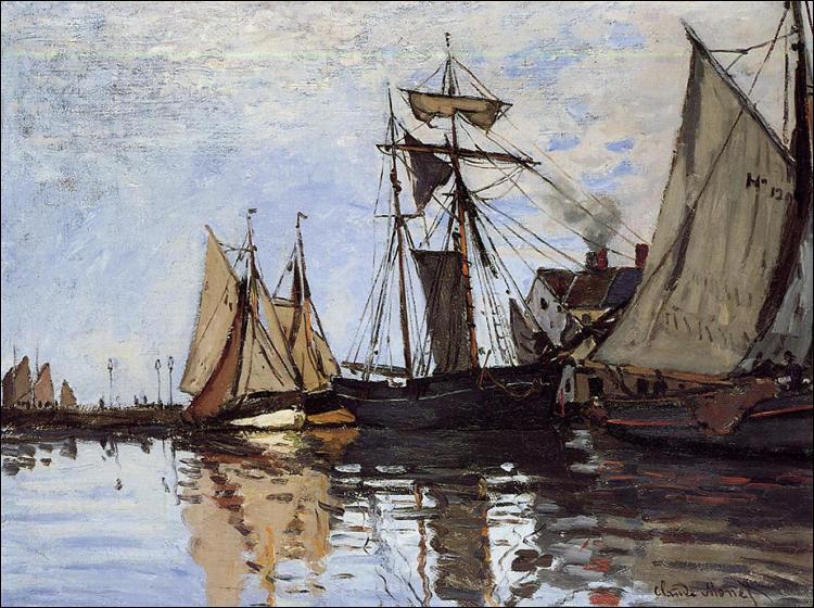 """Qui a peint """"Bateaux dans le port de Honfleur"""" ?"""