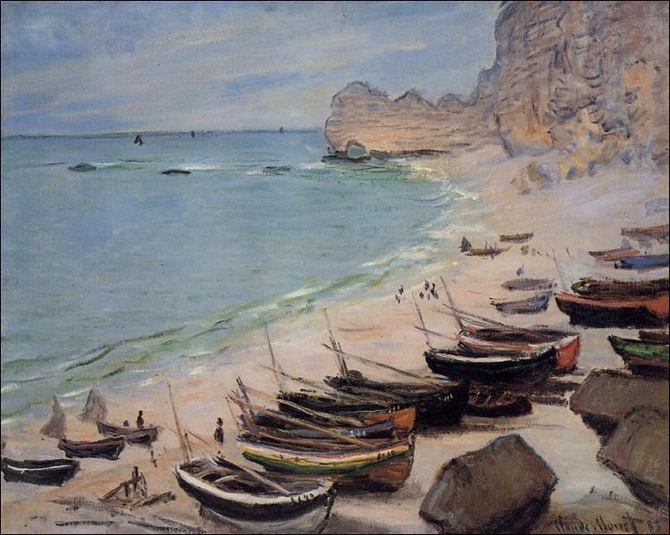 """Qui a peint """"Bateaux sur la plage d'Étretat"""" ?"""