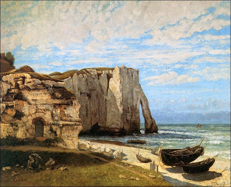 """Qui a peint """"Les falaises d'Étretat"""" ?"""
