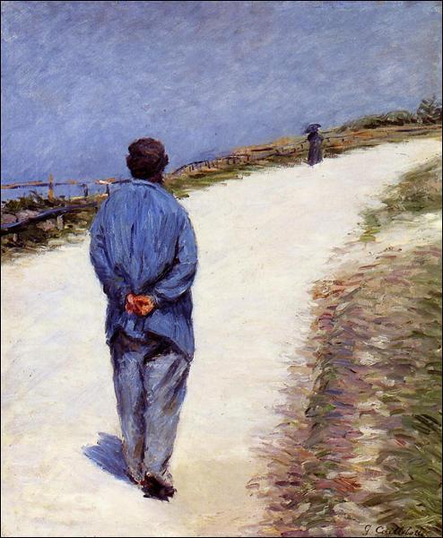 """Qui a peint """"Père Magloire sur la route de Saint-Clair, Étretat"""" ?"""