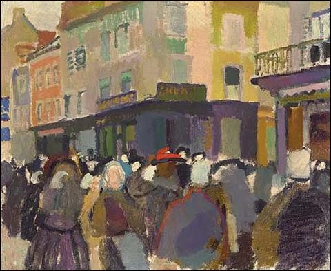 """À qui doit-on ce tableau représentant """"Le Marché à Falaise"""" ?"""
