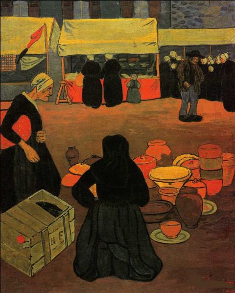 """C'est le """"Jeudi de marché sur la place de Huelgoat"""", qui l'a immortalisé sur sa toile ?"""