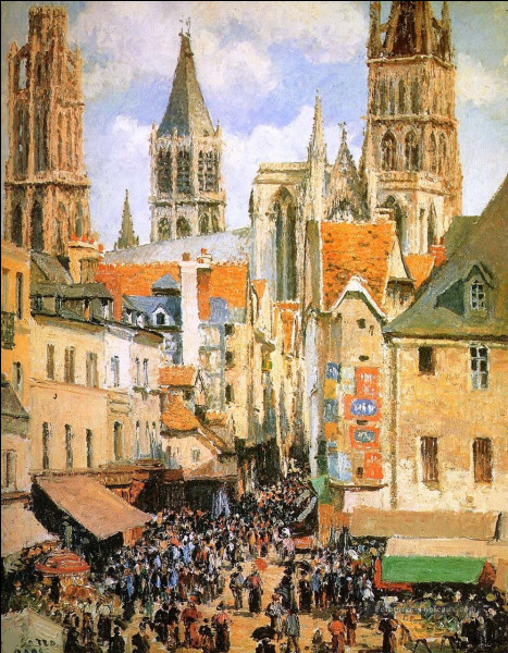 """À qui doit-on """"Le Vieux Marché à Rouen"""" ?"""
