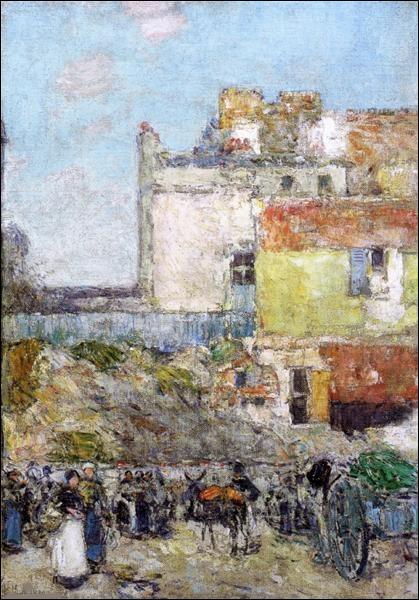 """Qui a représenté """"Le Marché saint-Pierre à Montmartre"""" ?"""