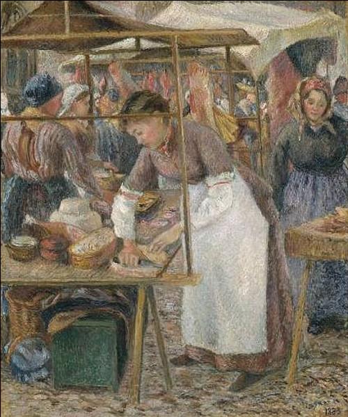 """Qui a fait le portrait de """"La Charcutière au marché de Pontoise"""" ?"""
