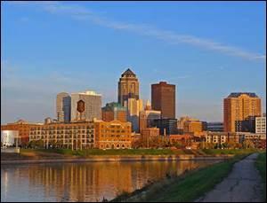 Des Moines est la capitale de quel Etat ?