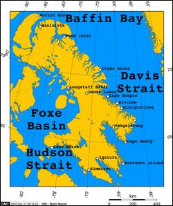 John Davis - Dans quels pays est situé le détroit de Davis, découvert par cet explorateur ?