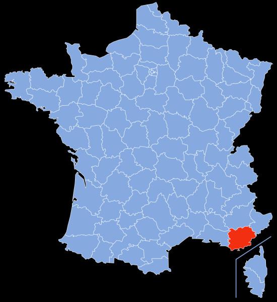 Le Var est une région du sud :